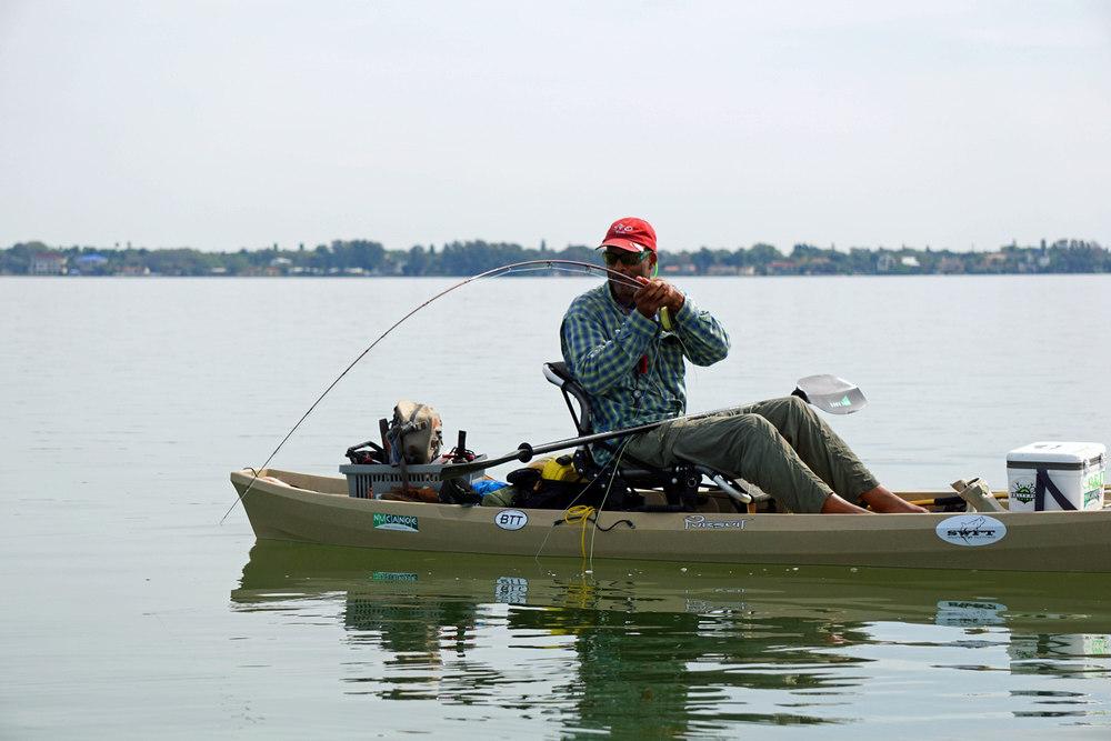 Sarasota kayak steve gibson 4 2 2016 capmel for Tampa bay fishing hot spots