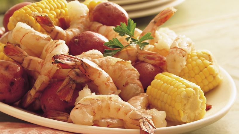 Shrimp Sweet Corn And New Potato Boil Capmel
